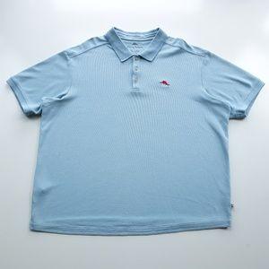 Tommy Bahama Light Blue Mens Polo Shirt Size XXL